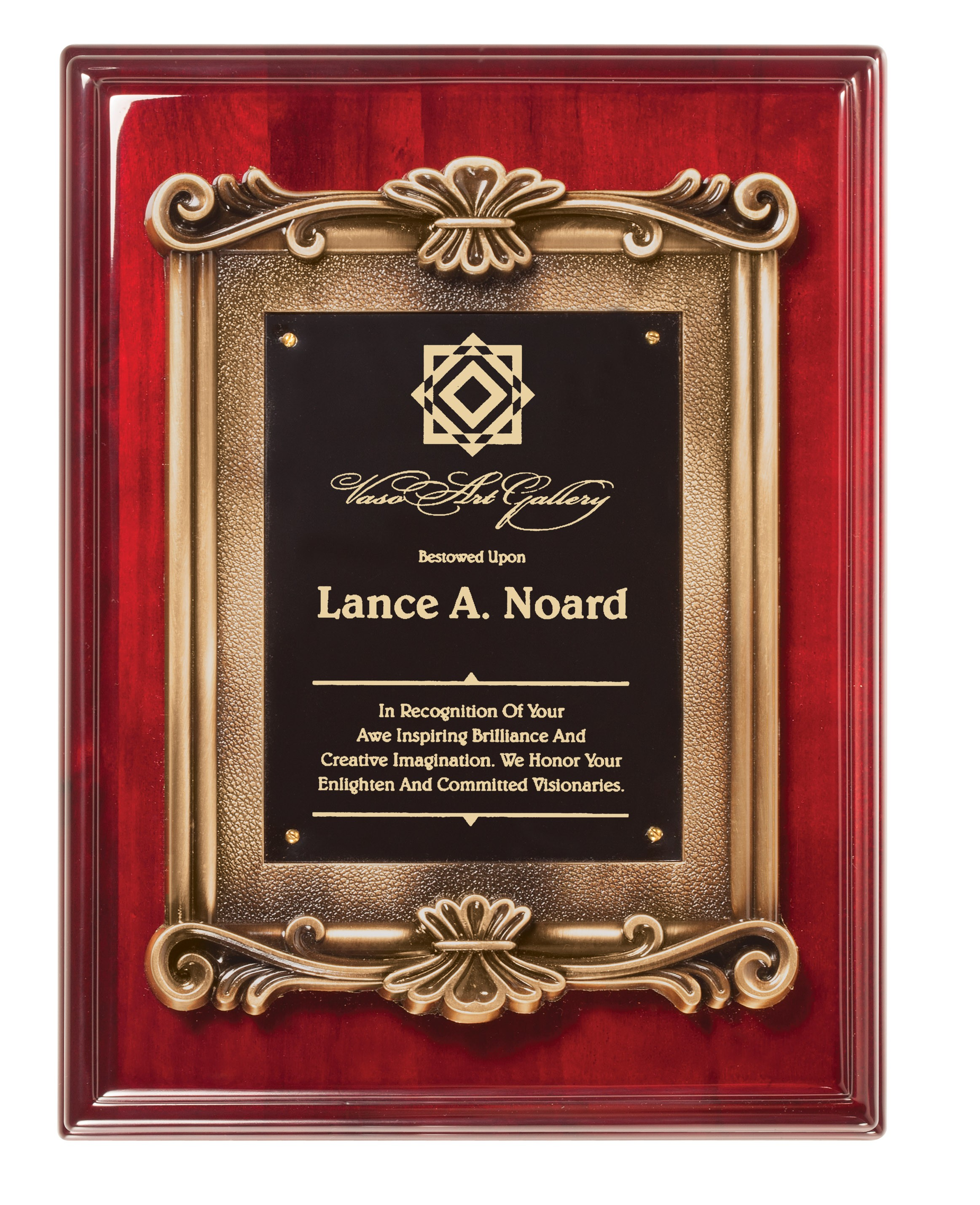 Rosewood Piano Finish Plaques